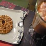 Ciastka owsiane z bananem, czekoladą i kokosem