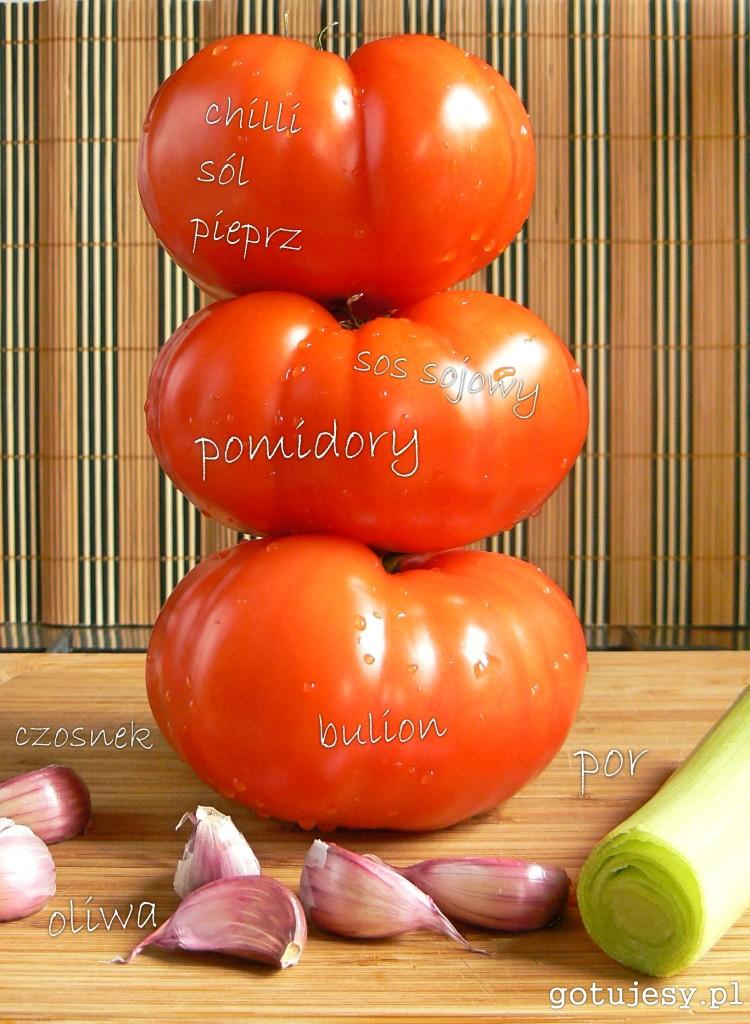 krem z pieczonych pomidorów składniki