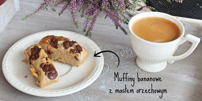 Muffiny bananowe z masłem orzechowym