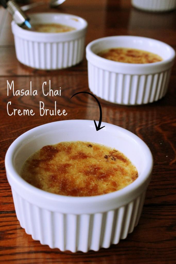 Masala Chai Crème brûlée