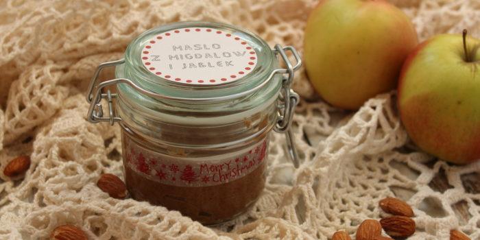 Masło migdałowe z jabłkami